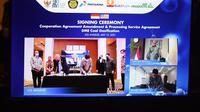 PT Pertamina (Persero), PT Bukit Asam Tbk (PTBA), dan Air Products & Chemicals Inc (APCI) bekerja sama garap proyek gasifikasi batu bara menjadi DME. (Dok: Istimewa)