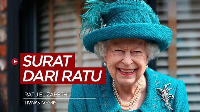 Berita video surat Ratu Elizabeth II untuk timnas Inggris jelang final Euro 2020