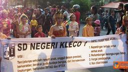Citizen6, Solo: Karnaval Kota Layak Anak yang diselenggarakan pada, Jumat (1/7) berlangsung meriah. (Pengirim: Sugeng Santoso)