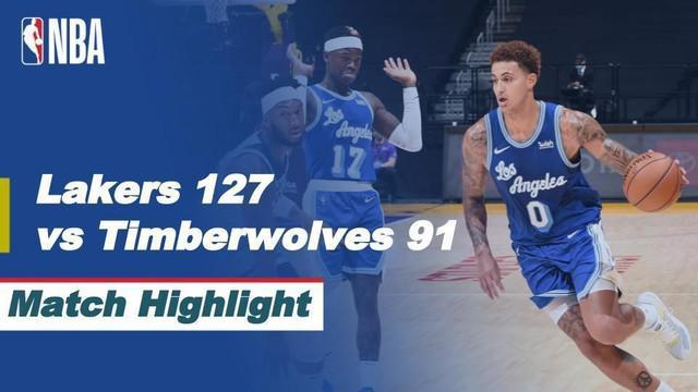 Beria video, LA Lakers kalahkan Minnesota Timberwolves dalam lanjutan NBA 2020/2021
