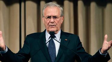 Mantan Menteri Pertahanan Amerika Serikat (AS) Donald Rumsfeld yang menjadi arsitek utama perang Irak, wafat dalam usia 88 tahun (AP)