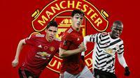 Manchester United - Raphael Varane, Pau Torres, Kalidou Koulibaly (Bola.com/Adreanus Titus)