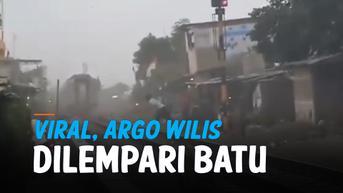 VIDEO: Viral, Argo Wilis Dilempari Batu Saat Melintas di Bandung