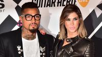Kevin-Prince Boateng dan Melissa Satta. (AFP/Giuseppe Cacace)