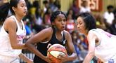 NBA menyelenggarakan Kejuaraan Dunia Jr. NBA 2019 yaitu turnamen basket tingkat global bagi anak laki-laki dan perempuan berusia 13-14 tahun dari seluruh dunia. (NBAE/Pamela Costello)