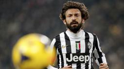 Sebelumnya Andrea Pirlo baru saja diumumkan Juventus sebagai pelatih Tim Juventus U-23, tepatnya pada 30 Juli lalu. (AFP/Marco Bertorello)