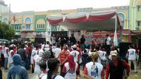 Sejumlah pedagang kaki lima deklarasikan diri mendukung Jokowi-Ma'ruf