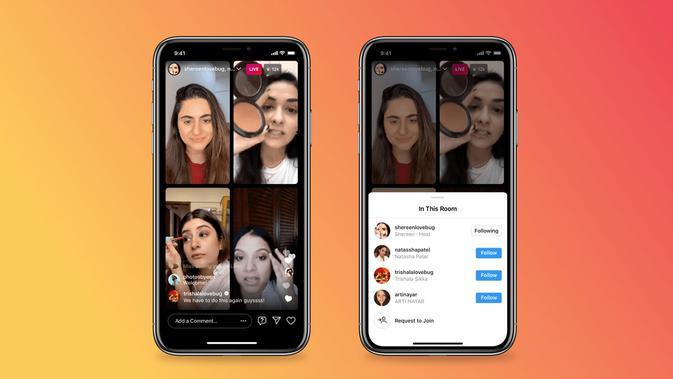 Instagram menghadirkan kemampuan untuk melakukan siaran IG Live hingga empat orang (Foto: Instagram).