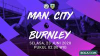 Premier League - Manchester City Vs Burnley (Bola.com/Adreanus Titus)