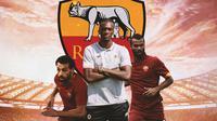 AS Roma - Mohamed Salah, Tamny Abraham, Ashley Cole (Bola.com/Adreanus Titus)