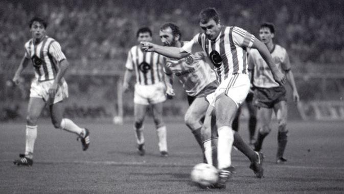 Hans Krankl membela Rapid Wien di 1984. (Twitter)