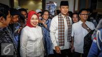 Sylviana Murni dan Agus Harimurti Yudhoyono. (Liputan6.com/Faizal Fanani)