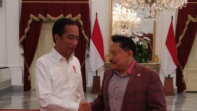 AM Hendropriyono dan Presiden Jokowi