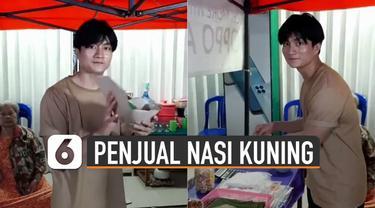 Beredar video seorang pria penjual nasi kuning mirip oppa korea.