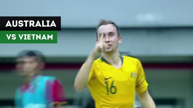 Berita video highlights Piala AFC U-19 2018 antara Australia melawan Vietnam yang berakhir dengan skor 2-1 di Stadion Patriot, Bekasi, Senin (22/10/2018).