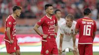 Bek Persija Jakarta, Maman Abdurahman, saat melawan PSM Makassar pada laga Liga 1 2019 di SUGBK, Jakarta, Rabu (28/8). Kedua tim bermain imbang 0-0. (Bola.com/M Iqbal Ichsan)