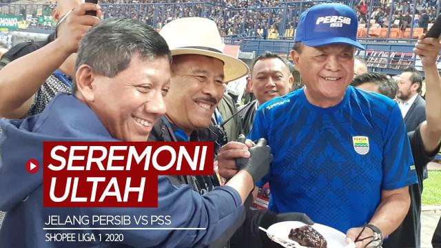Berita video manajemen melakukan seremoni ulang tahun klub jelang pertandingan pekan ketiga Shopee Liga 12020, Persib vs PSS, di Stadion Si Jalak Harupat, Minggu (15/3/2020).