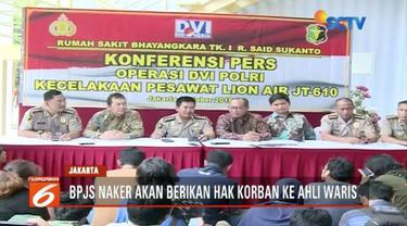 BPJS Ketenagakerjakan buka posko pengaduan klaim bagi ahli waris korban Lion Air JT 610.
