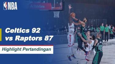 Berita video highlights gim keempat semifinal wilayah timur playoff NBA 2019/2020 antara Boston Celtics melawan Toronto Raptors yang berakhir dengan skor 92-87, Sabtu (12/9/2020) pagi hari WIB.