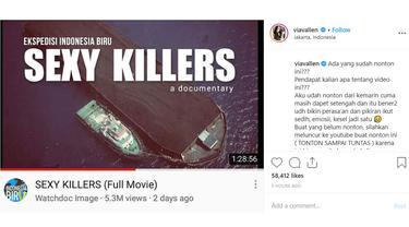 Komentar Via Vallen soal film Sexy Killers (Instagram/viavallen).