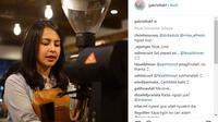 Berikut potret cantik Gabriella K Fernanda, barista cantik yang viral di dunia maya. (Foto: instagram/gabriellakf)