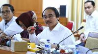 Sekretaris Jenderal (Sekjen) Kemnaker Hery Sudarmanto saat menerima Duta Besar Qatar untuk Indonesia Ahmed Bin Jassim Al-Hamar di kantor Kemnaker.