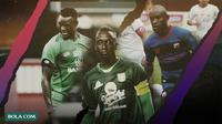 Pemain Afrika di Shopee Liga 1 2020: Makan Konate, Ezechiel N'Douassel, Zah Rahan. (Bola.com/Dody Iryawan)