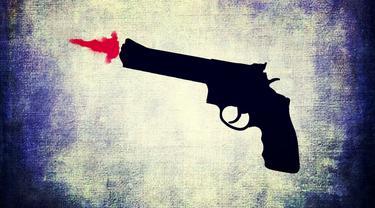 Ilustrasi pistol (Liputan6.com/Rino Abonita)
