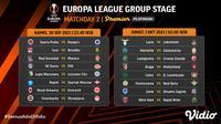 Jadwal dan Live Streaming Liga Europa 2021/2022 Matchday 2 di Vidio Pekan Ini. (Sumber : dok. vidio.com)