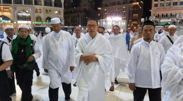 Menteri Agama (Menag) Lukman Hakim Saifuddin di Makkah. Bahauddin/MCH
