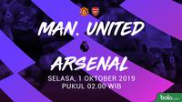 Premier League - Manchester United Vs Arsenal (Bola.com/Adreanus Titus)