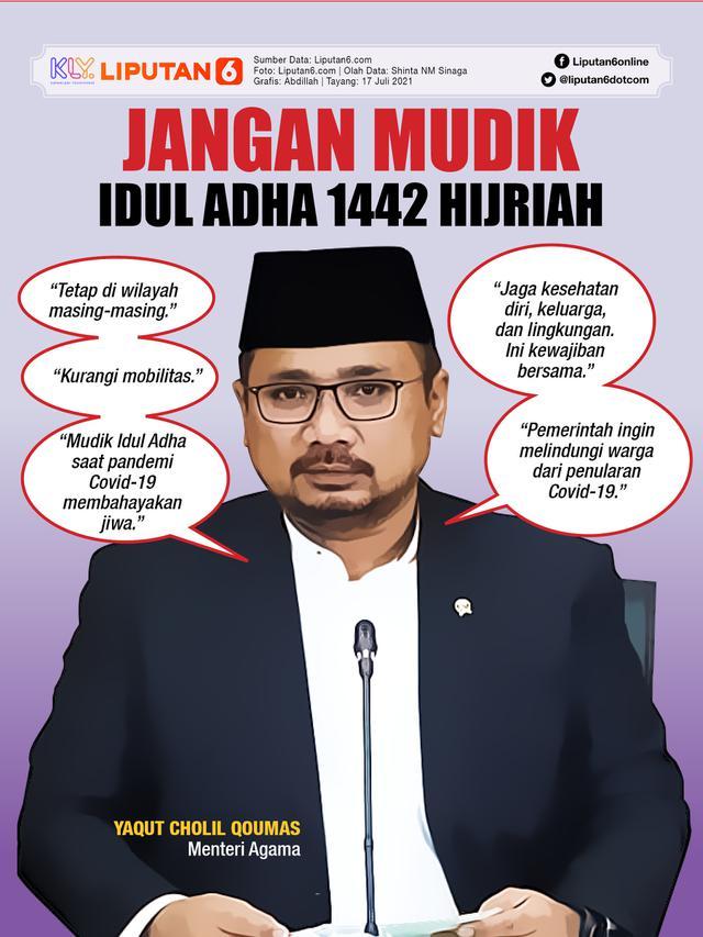 Infografis Jangan Mudik Idul Adha 2021