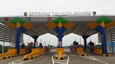 Gerbang Tol Kualanamu, Sumatera. (Ilyas/Liputan6.com)