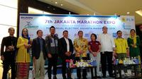 Konferensi pers Jakarta Marathon 2019. (Liputan6.com/Cakrayuri Nuralam)