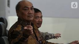 Ketua KNKT Soerjanto Tjahjono memberikan keterangan pers mengenai hasil investigasi kecelakaan pesawat Lion Air JT 610 di Jakarta, Jumat (25/10/2019). Ada sembilan faktor yang berkontribusi dalam kecelakaan pesawat yang jatuh 29 Oktober 2018 di Tanjung Karawang itu. (Liputan6.com/Johan Tallo)