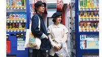 Andien dan suami saat berbulan madu ke Jepang. Foto: Instagram.