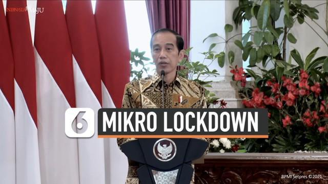 Presiden Joko Widodo berbicara soal mikro lockdown di acara peresmian pembukaan Munas VI Asosiasi Pemerintah Kota Seluruh Indonesia hari Kamis (11/2). Apa itu mikro lockdown?