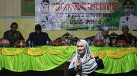 "Program ""Semalam di Desa Terpencil"" Persembahan Bupati Cantik Kabupaten Lutra, Sulsel, Indah Putri Indriani (Liputan6.com/ Eka Hakim)"