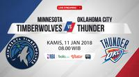 Minnesota Timberwolves Vs Oklahoma City Thunder (Bola.com/Adreanus Titus)