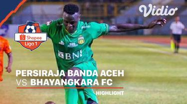 Berita Video Highlights Shopee Liga 1 2020, Persiraja Banda Aceh Tahan Bhayangkara FC 0-0