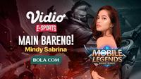 Mindy Sabrina akan bermain sekaligus menyapa para penggemar Mobile Legends : Bang Bang di Vidio.com. (FOTO / Ist)