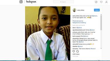 Siswa Juara Matematika Tingkat Nasional Curhat ke Jokowi