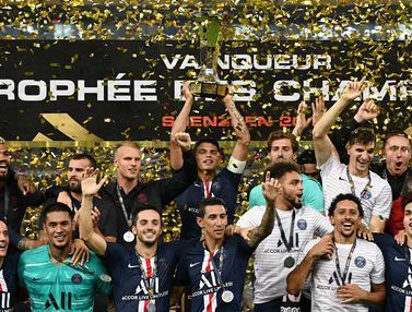 FOTO: Tanpa Neymar, PSG Menjadi Kampiun Piala Liga Prancis