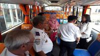 Bus khusus untuk perempuan (Foto:Liputan6.com/Pramita T)