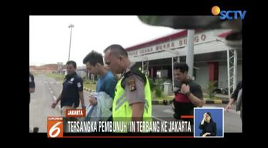 Dua sejoli pembunuh seorang wanita yang ditemukan dalam lemari kamar kos diterbangkan ke Jakarta untuk pemeriksaan lanjutan di Mapolres Jakarta Selatan.