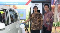 Badan Pengkajian dan Penerapan Teknologi (BPPT) meresmikan dua Stasiun Pengisian Listrik (EVCS).