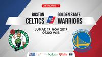 Jadwal NBA, Boston Celtics Vs Golden State Warriors. (Bola.com/Dody Iryawan)