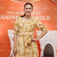 Donna Agnesia peluncuran Sandra Dewi Gold di The Edge Bistro & Mojito Bar Kemang Icon Jakarta. (Bambang E Ros/Fimela.com)