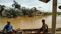 Banjir meluas di Indragiri Hulu (Liputan6.com/M Syukur)