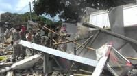 Penertiban bangunan di Kampung Arab, Puncak, Bogor (Liputan6.com/ Achmad Sudarno)